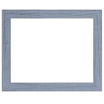 Rustic blue wall frame with a chalk paint finish.