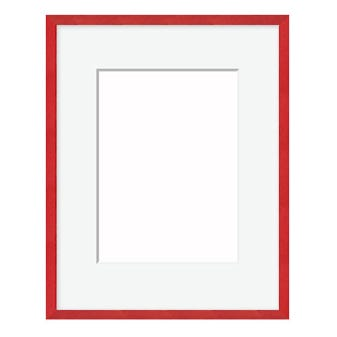 All INclusive Red Picture Frame WIth Cross Brushed Finish 12FT