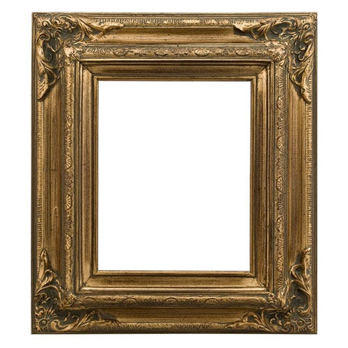 Gold ornate corners brushed wood picture frames 1ETL whole frame