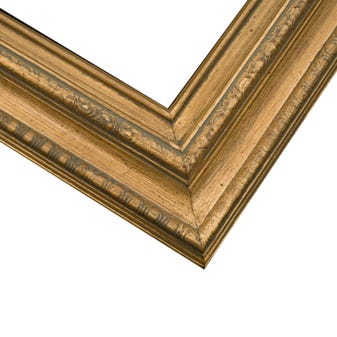 Gold traditional wood frame