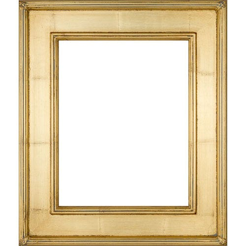 Gold wood plein air picture frame 1PGC whole frame image