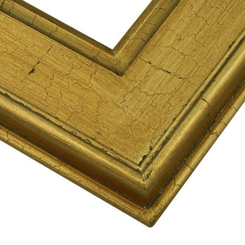 Crackled gold plein air wood frame