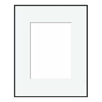Thin Matte Black Metal Picture Frame