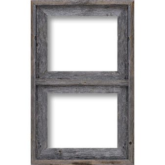 Rustic Gray Two Window Collage Picture Frame