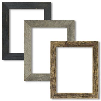 Reclaimed Tabletop Picture Frame Set In Neutral Tones 2BWPACK810