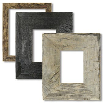 Rustic Farmhouse Picture Frame Set With Natural Distressing 2BWPACKMIX