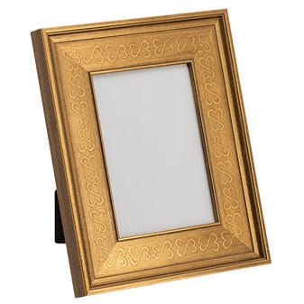 Gold Open Hearts Tabletop Picture Frame 2JHMT