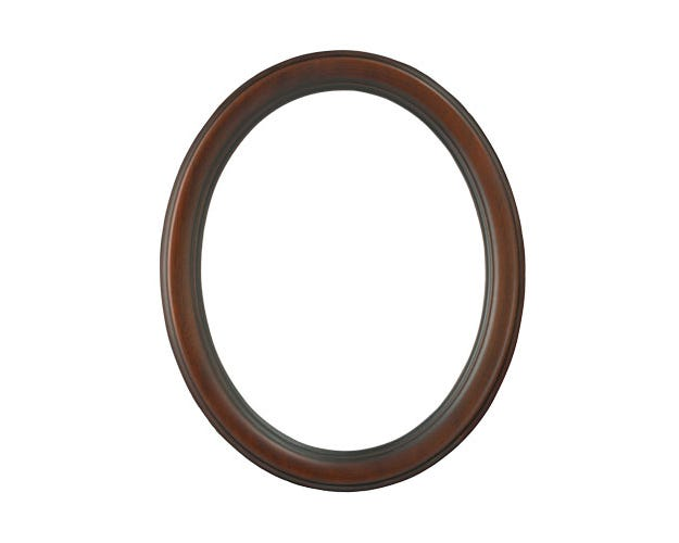 Walnut Oval Wood Picture Frame