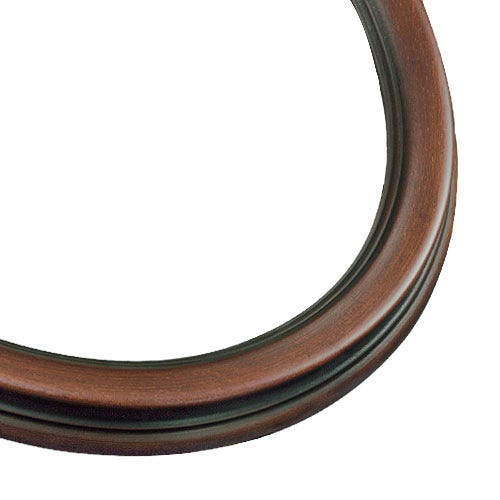 Classic Oval Picture Frame With Dark Walnut Finish