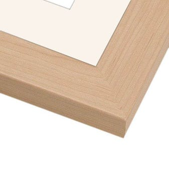 All Inclusive Maple Picture Frame WIth White Mat