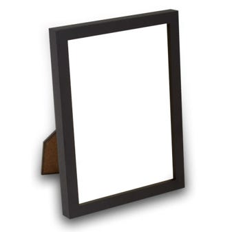 Classic Black Tabletop Picture Frame With Satin FInish