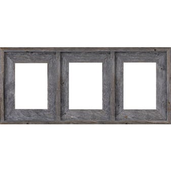 Gray Collage Picture Frame With 3 Openings