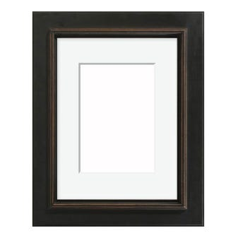 3AP antique black picture frame rustic