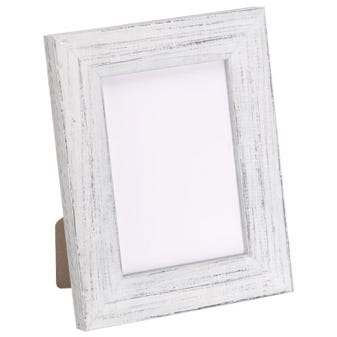 Rustic White Tabletop Picture Frame With Distressed FInish 3BPT