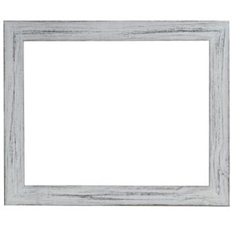 Rustic Daisy White Picture Frame With Distressed Finish 3BPW