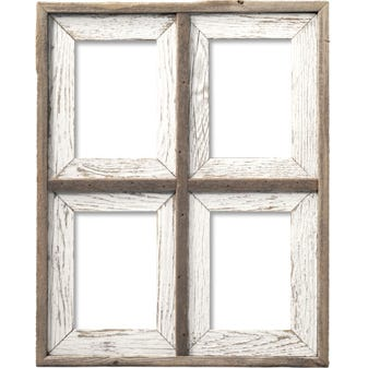 Whitewash Collage Wood Picture Frame