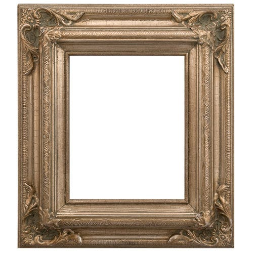 Cracked Silver Wood Picture Frame