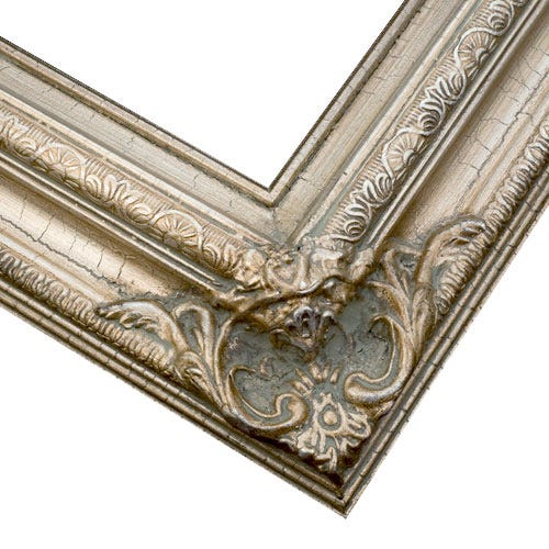 Traditional SIlver Picture Frame With Warm Bronze Patina