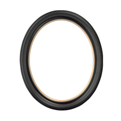 Black w/ Gold Oval Picture Frame
