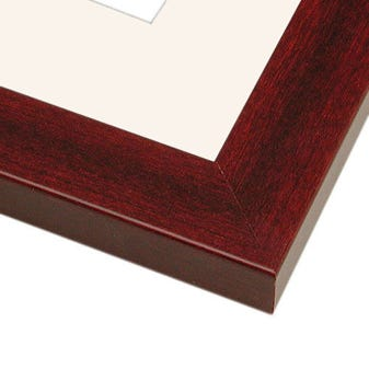 All Inclusive Mahogany Picture Frame With White Mat