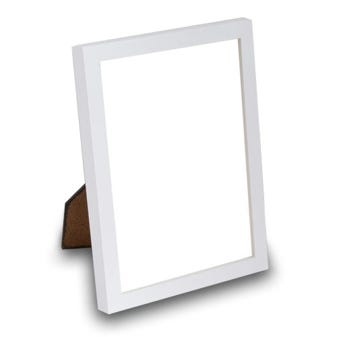 Satin White Tabletop Picture Frame
