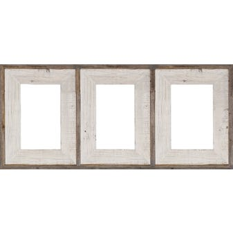 Whitewash Barnwood Collage Picture Frame