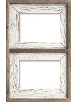3BW2C810 Whitewash Collage Frame