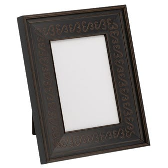 Black Table Top Picture Frame With Open Heart Design 3JHMT