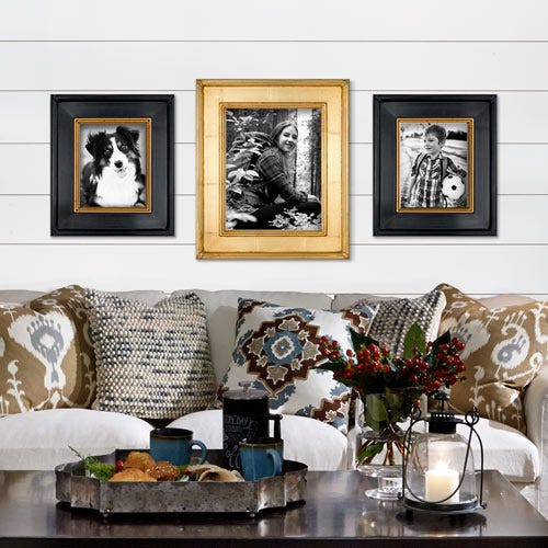 3PG frame in farmhouse living room