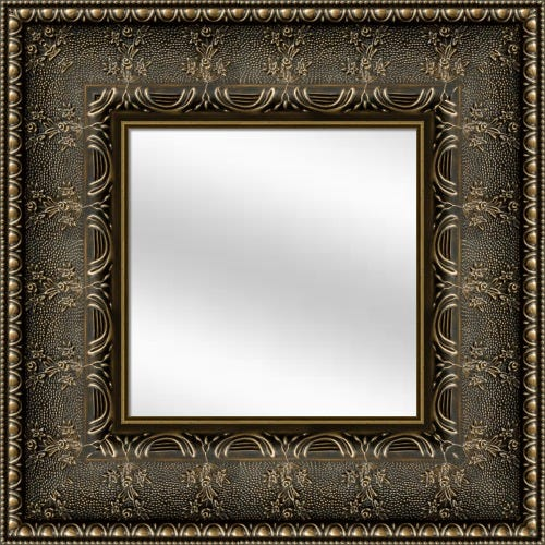 Gold Botanical Framed Mirror
