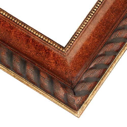Elegant Walnut FInished Picture Frame With Gold Details