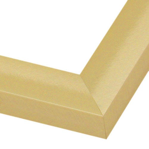 Square profile gold metal picture frame with a brushed finish 444AGD