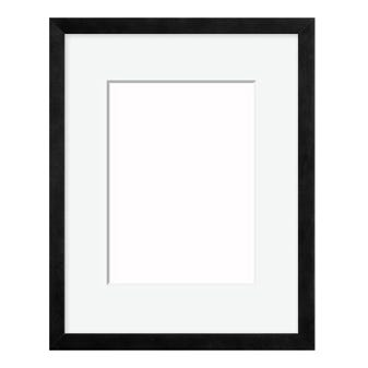 Slender Black Picture Frame WIth Off-White Mat 4AP