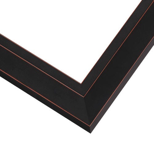 Black Picture Frame With Red Highlights