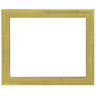 Rustic Yellow Picture Frame With Distressed FInish 4BPW