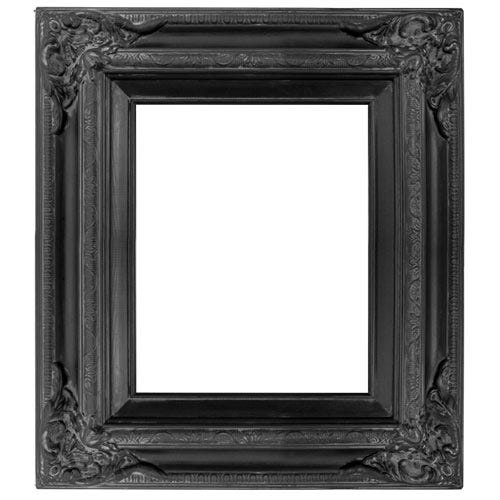 Sculpted Black Wood Picture Frame