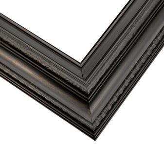Traditional Black Picture Frame With Relief Details and Warm Satin FInish 4ETS