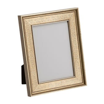 Antiqued Silver Open Heart Tabletop Picture Frame 4JHST