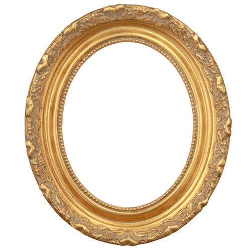 Ornate Oval Gold Picture Frame