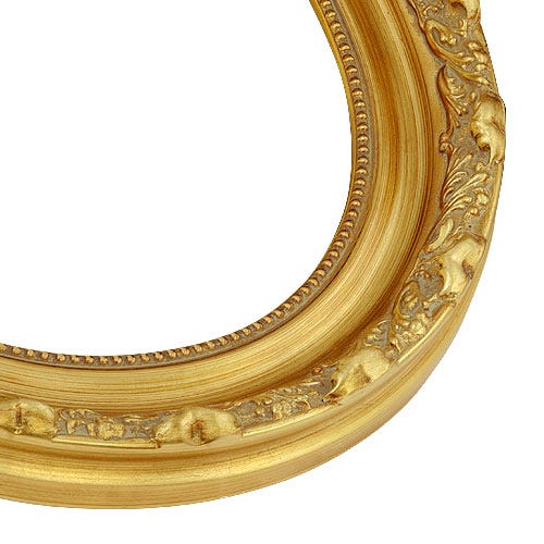 Ornate Gold Oval Picture Frame With Gold Finish