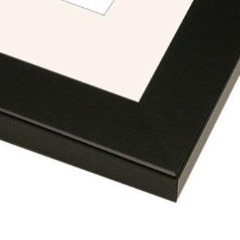 Classic Black Picture Frame With White Mat