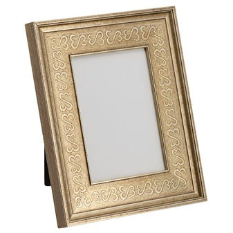Silver Open Hearts Tabletop Picture Frame