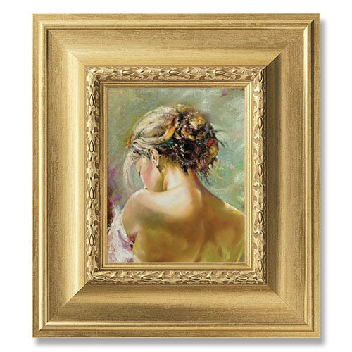 4VS Framed painting of woman's back