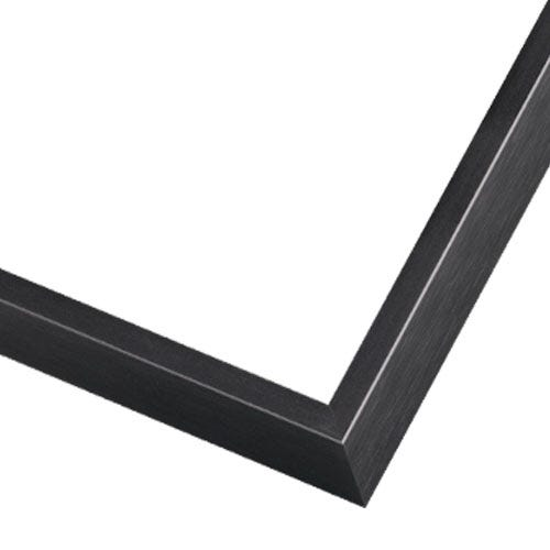 Black Metal Picture Frame With Cross Brushed Texture