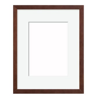 Traditional Walnut Picture Frame With White Mat