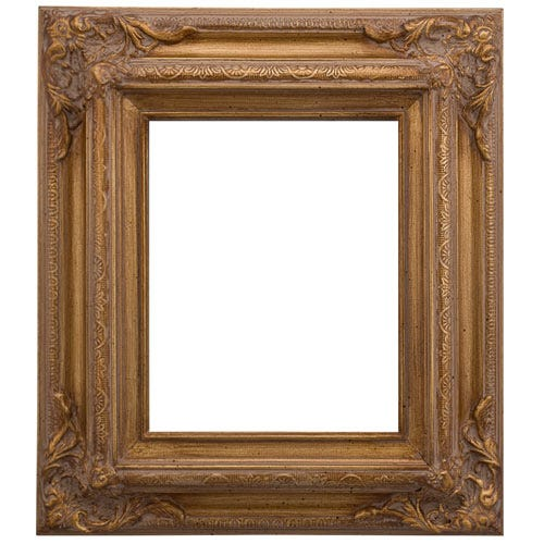 Ornate Warm Gold Wood Picture Frame