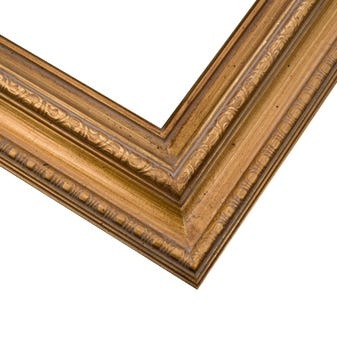 Traditional Gold Picture Frame With Warm Antique Finish