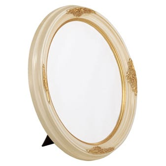 Gold And Ivory Oval Picture Frame 5OVTT