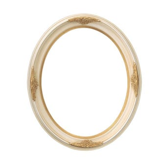 Gold And Ivory Oval Picture Frame