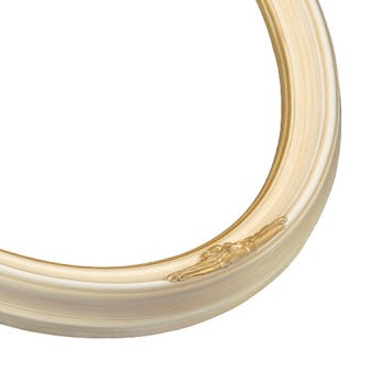 Classic Ivory Oval Picture Frame With Gold Details 5OV
